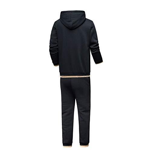 Aportivo Nero Pantaloni Maglione Autunno Opaco Tumbler Tuta Caldo Inverno Pullover Corsa Set Ginnastica Da Completo Yoga Uomo Due Felpe 01 Pezzi Tops Sportswear Homebaby BqRCH4R