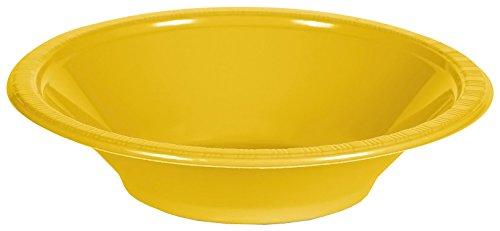 Creative Converting 28102151 PREMIUM PL BOWLS 12 OZ, School Bus Yellow -
