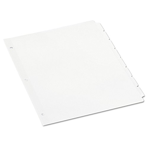 - Universal Economy 8-Tab Dividers, Letter, White, 24 Sets/Box (20845)