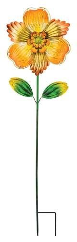 Regal Arts & Gift Isabel 10.5 Inches X 5.5 Inches X 42.5 Inches Metal/Glass Flower Stakes - Yellow by Regal Art & Gift