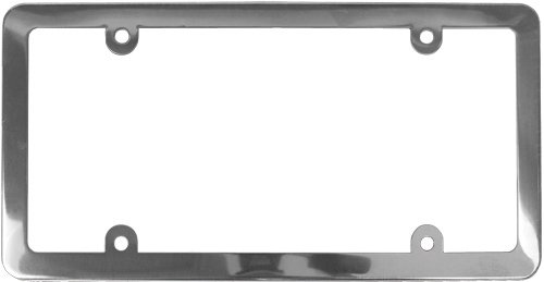 amazoncom custom accessories 92017 stainless steel license plate frame automotive