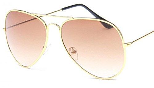 con café lente WODISON Reflective Gafas Aviator bolsa sol Metal Vintage de Frame Espejo CqawAR