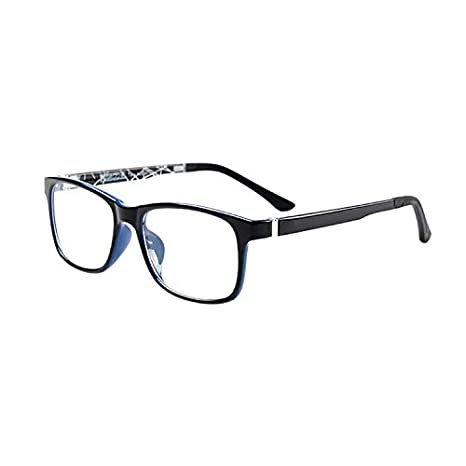 Hzjundasi Mode Optische Gl/äser Ultra Licht Voll Rahmen Damen Herren Brille Klar Linse Sonnenbrille