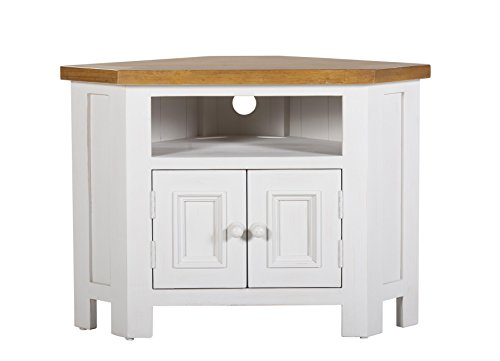 Farmhouse Furniture asxfrm1071 Tuscan Corner TV Stand Solid Wood, 36