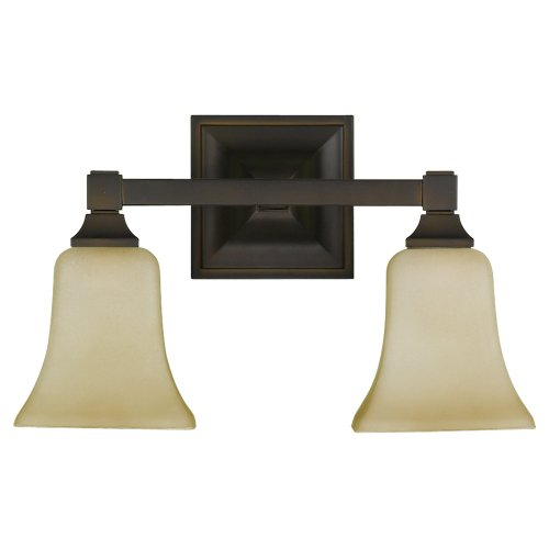 Feiss VS12402-ORB 2-Bulb Vanity Light Fixture, Oil Rubbed Bronze Finish