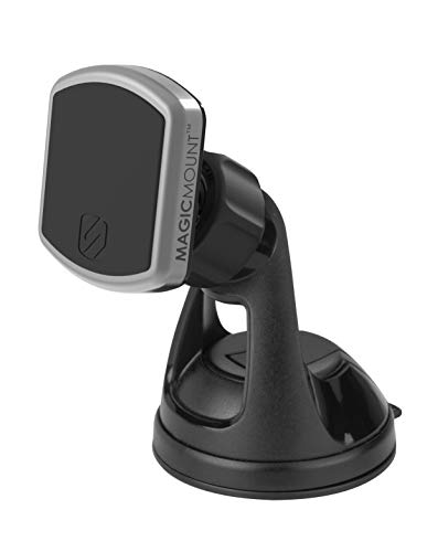 SCOSCHE MPWD Pro MagicMount Universal Magnetic Phone/GPS Suction Cup Mount for the Car, Home or Office