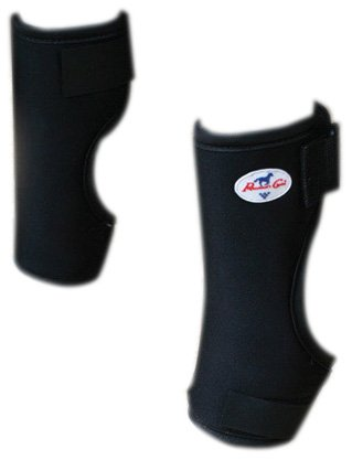 Professional's Choice Equine Knee Boot, Pair (Universal Size, Black) by Professional's Choice