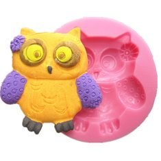 Farook-Cute Owl Silicone Fondant Mold Chocolate Polymer Clay Mould