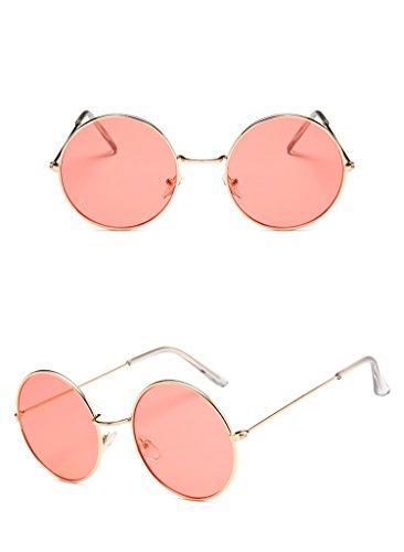 Nuni Gold Wire Frame Tinted Lens Retro Round Sunglasses Small Size (gold, - Lens Sunglasses Tinted