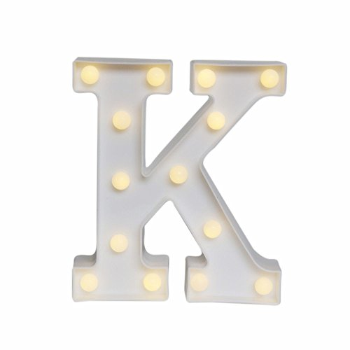 SDOUBLEM Decorative Plastic LED Marquee Letter Battery Wall Table