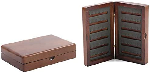 Chou - Caja de Pesca con Mosca de Madera, 12,5 x 10 x 4,8 cm, para ...