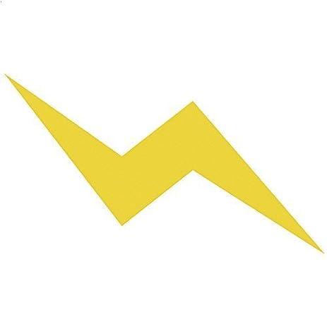 Amazon.com: Black Color Lightning Bolt Sticker Die Cut Window Car ...