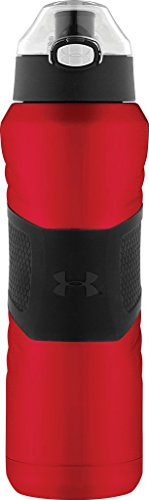 Under Armour Dominate 24 Ounce Stainless Steel Water Bottle, Matte Red Angel Men Metal Flask