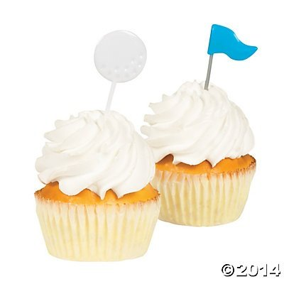 Golf Party Food Cupcake Picks - 25 (Themes For Golf Tournaments)
