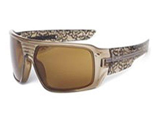 Tungsten Iridium Sunglasses (Fox Study Graphic Frame and Premium Lens Sunglasses,Clear - Brown Frame/Tungsten Iridium Lens,one size)