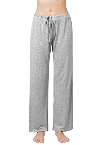 Air Curvey Womens Pajama Pants Wide Leg Lounge Pants Gray XL
