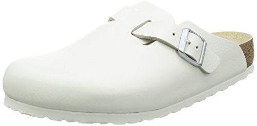 Clogs White Leather - Birkenstock Boston Leather Clog,White,38 N EU