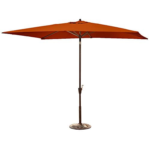 Island Umbrella NU5433TS Adriatic Rectangular Market Umbrella Sunbrella Acrylic, 6.5' x 10', Terra Cotta
