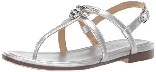 Naturalizer Womens Thongs - Naturalizer Women's Tilly Sandal, Silver, 9 M US