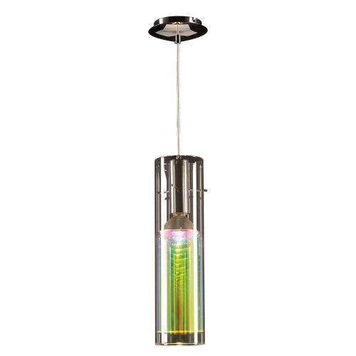 PLC Lighting 36610 PC 1 Light Angora Collection Mini Pendant, Polished Chrome Finish