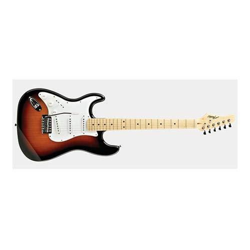Austin AST100 Series Left Handed Classic Double Cutaway Electric Guitar, Sunburst Gloss