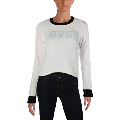 Juicy Couture BLACK LABEL Women's Pullover Sweater, Bleached Bone Cream, M