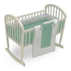 Sweet Spot Cradle Bedding Set- Color: Mint, Size: 15x33 by BabyDoll Bedding