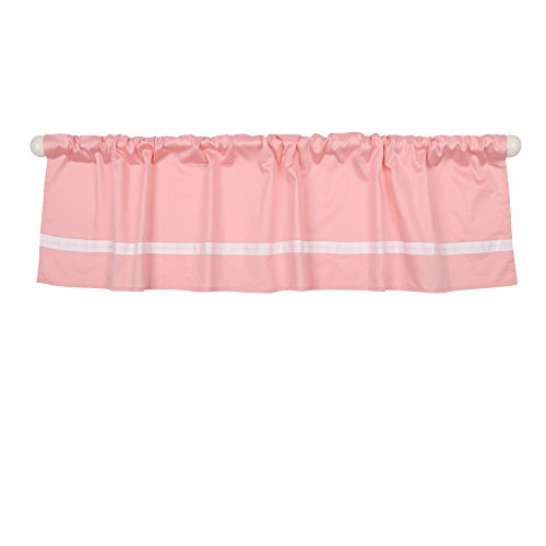 - Coral Pink Tailored Window Valance by The Peanut Shell - 100% Cotton Sateen