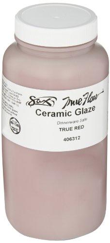 Red Glaze Ceramic - Sax True Flow Gloss Glaze, Red, 1 Pint - 406312