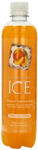 Sparkling ICE Peach Nectarine Sparkling Mountain Spring Water, 17 Fluid Ounces (1 Bottle) ()