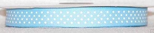 Blue Polka Dot Grosgrain Ribbon - 5/8
