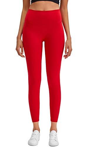 Lavento Women's Yoga Pants High Waisted Naked Feeling 7/8 Length Leggings
