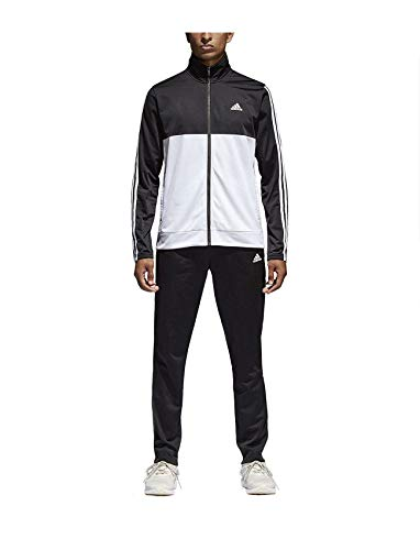 adidas Men's Athletics Back2Basics 3-Stripes Track Suit (Black, Small) from adidas