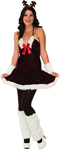 Secret Wishes Festive Reindeer Dress, Multicolor, Large -