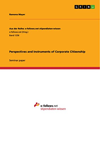 Perspectives and Instruments of Corporate Citizenship