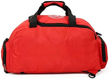 T60 Red for Girls,Women,Men Andensoner Gym Bag Lightweight Duffle Bag Sports Bag,Work Out Overnight Travel Holdall Bag Weekend Travel Bag,with Separate Shoe Compartment