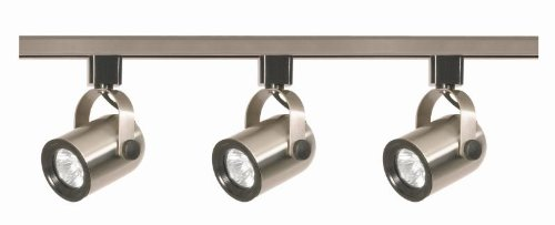 Nuvo TK354 Brushed Nickel MR16 Round Back Track Lighting Kit ()