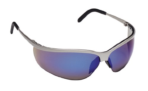3M Metaliks Sport Protective Eyewear. 11540-10000-20 Blue Mirror Lens, Nickel Frame  (Pack of 1) -