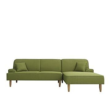 Muebles Marieta Sofá Alpino Green con Chaise Longue a la ...