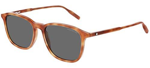 Montblanc Grey Square Men's Sunglasses MB0082S-00353