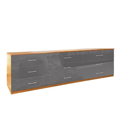 - 9 Drawer Triple Dresser