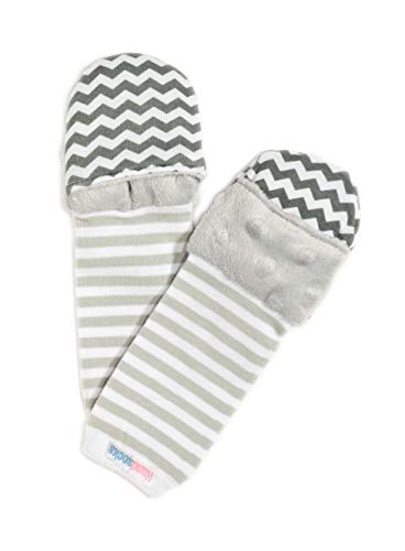 Handsocks Plushy Stay On Strap-Free No-Scratch & Warmth Baby & Kid Mittens (Large (Toddler 18+mo. Bicep Should be 5.5