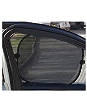 ستارة لشبابيك السيارة تحمي من حرارة الشمس 5 قطع لون اسود