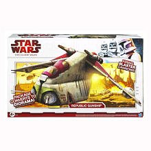 Star Wars The Clone Wars Exclusive Republic Gunship with Doors For Out of Atmosphere Deployment