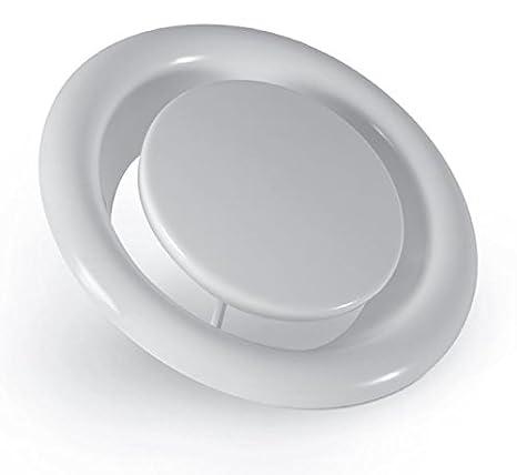 pulverbeschichtet Wei/ß 150mm Alle Gr/ö/ßen Abluftventile KW Serie