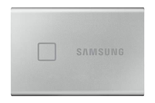 Samsung T7 Portable SSD de 2 TB (USB 3.2 Gen.2, hasta 1.050 MB/s) Plata Metálico