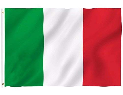 DFLIVE Italy Country Flag 3x5 ft Printed Polyester Fly Italy National Flag Banner with Brass Grommets ...