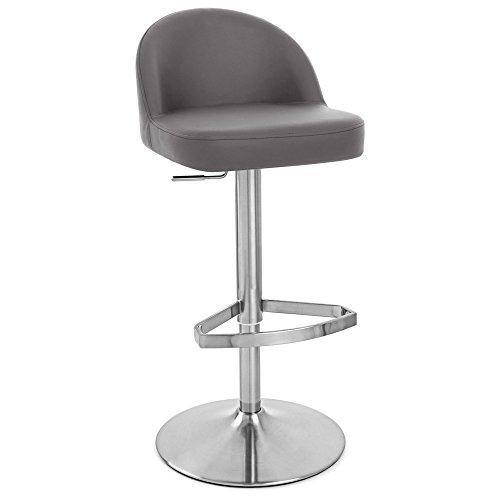 - Zuri Furniture Slate Mimi Adjustable Height Swivel Armless Bar Stool