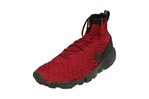 Nike Mens Air Footscape Magista Flyknit Fc Indoor Squadra Di Scarpe Da Calcio Rosso Nero 600