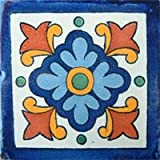 Mexican Talavera Tile - 40 4x4 Hand Painted Ceramic Tiles - Alejandro